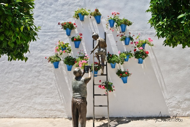 Escultura de los patios de Cordoba