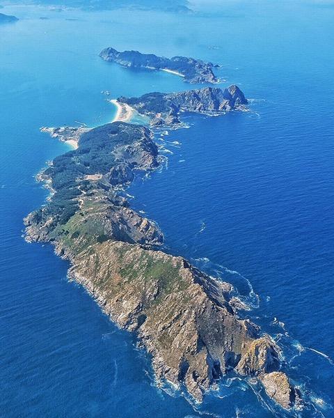 islas cies desde el aire