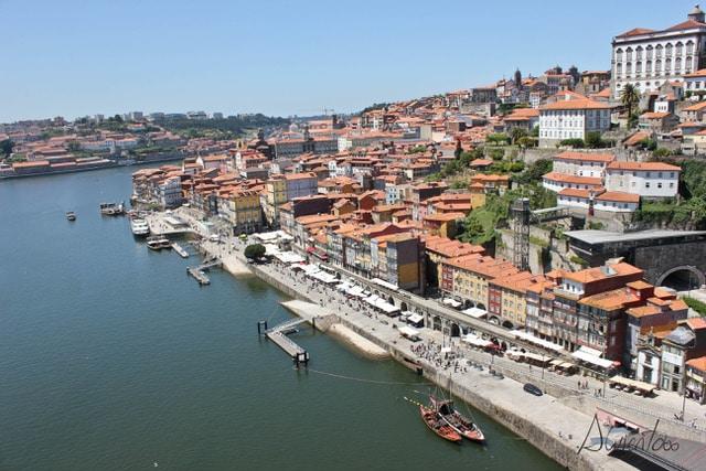 Vista de Oporto desde el puente Don Luis