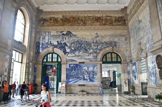 Que ver en Oporto. Estación de Sao Bento