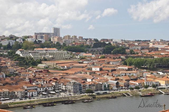 Vista de Oporto desde el puente