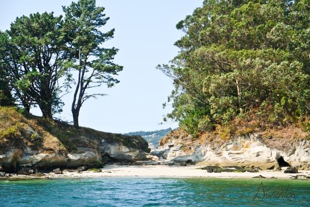 Isla de Tambo en la Ria de Pontevedra