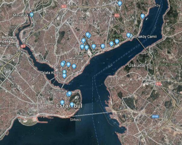 Estambul mapa