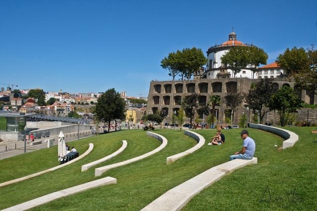Jardim do morro en Oporto