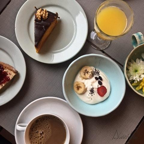 desayuno en el Hostel and Suites des Arts Amarante
