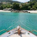 Un día de turismo náutico en Rias Baixas.