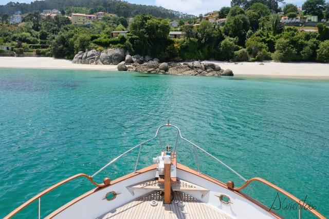 turismo nautico en Rias baixas en barco privado