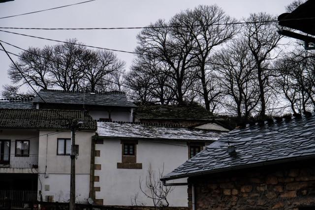casas en Montesinho en el norte de Portugal