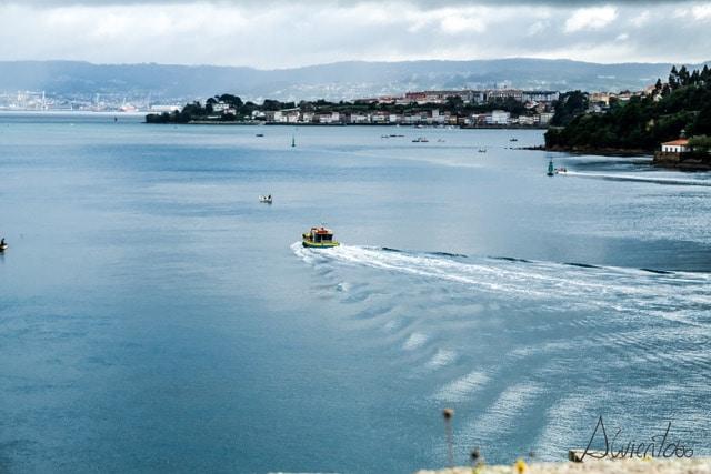 llegar a Ferrol en barco