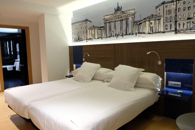 habitaciones del hotel Blue Coruña