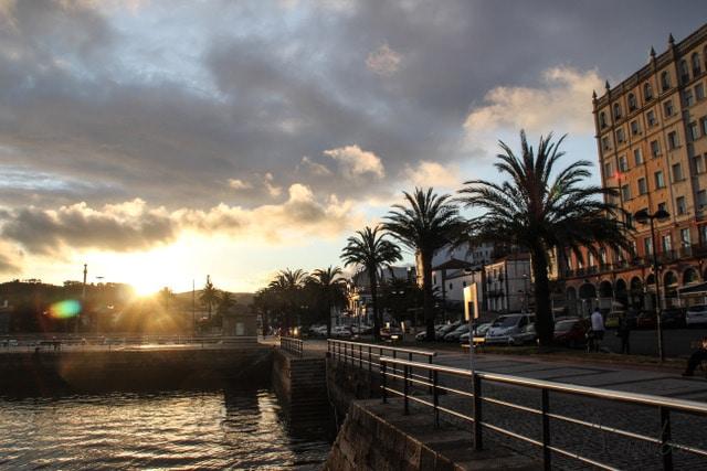 Puerto de curuxeiras en Ferrol, camino de Santiago desde Ferrol