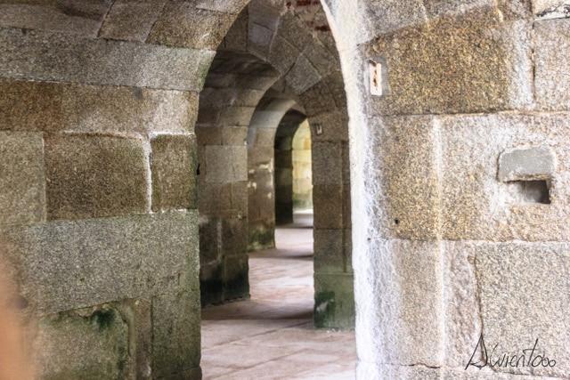 interior castillo de San Felipe en Ferrol