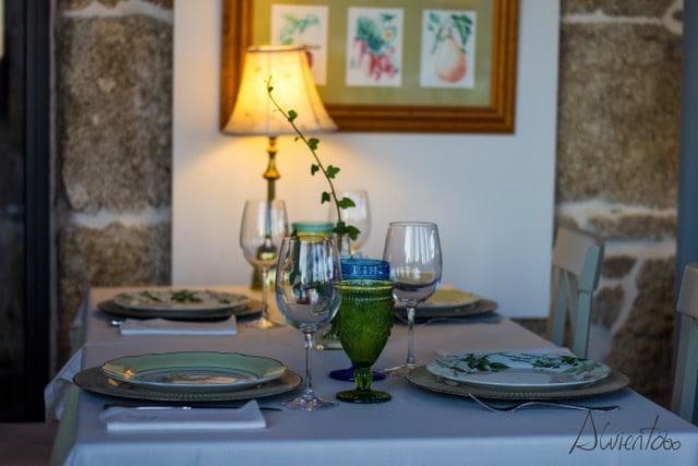 Restaurante de A Quinta de San Amaro en Galicia