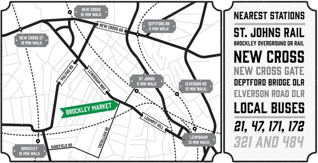 Brockley Market london map