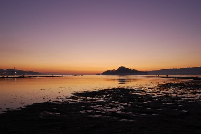 Puesta de sol en Pontevedra