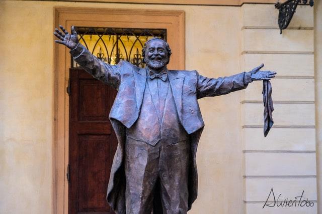 Luciano Pavarotti en Modena
