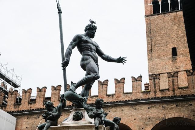 Piazza Neptuno con  la estatua de Neptuno