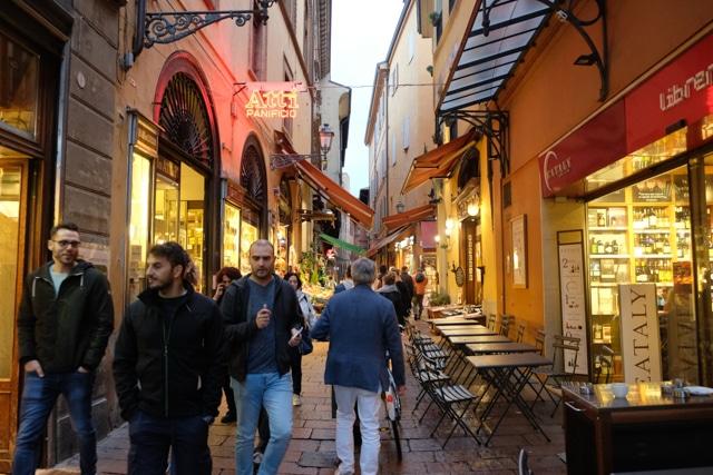 Ambiente en las calles de Bolonia