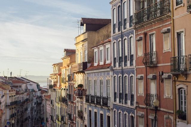 casas de colores en Lisboa
