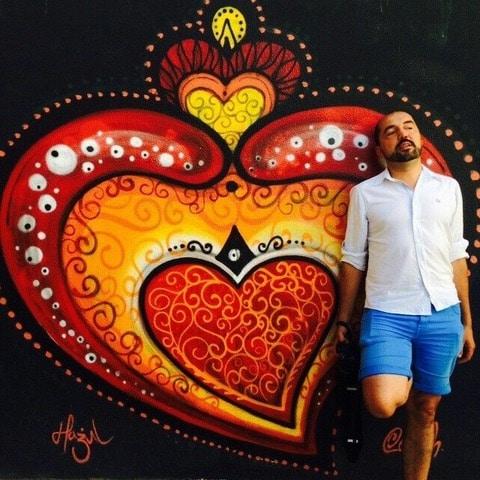 Corazon en un gratifi en Oporto