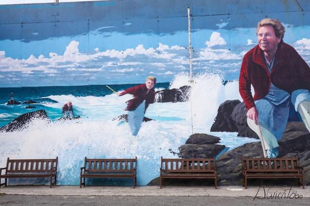 mural en Muxia hecho por Yoseba MP