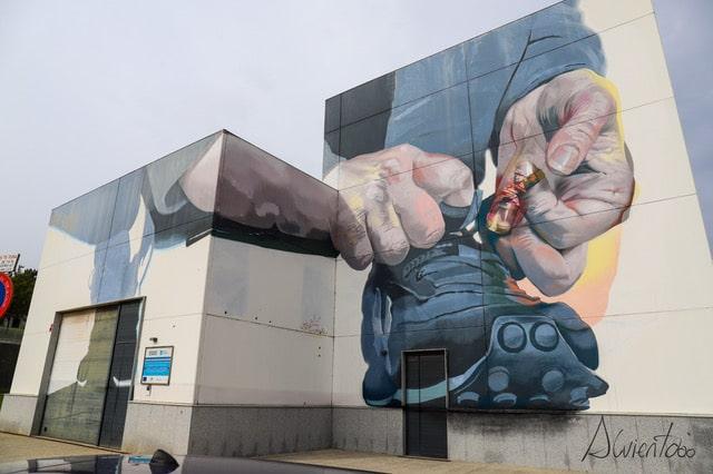 arte urbano en Carballo