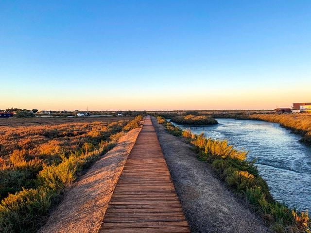 estuario rio Sado en Setúbal