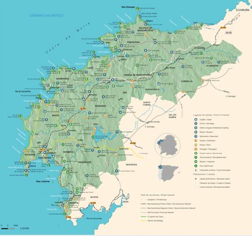 mapa de Costa da Morte