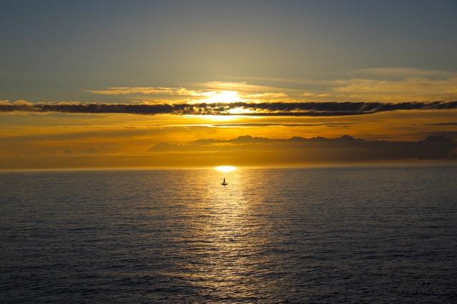 Puesta de sol en Finisterre