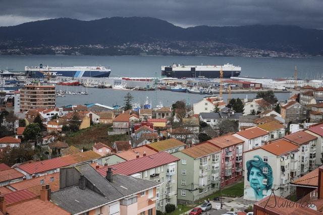 Ria de Vigo y la ciudad de Vigo