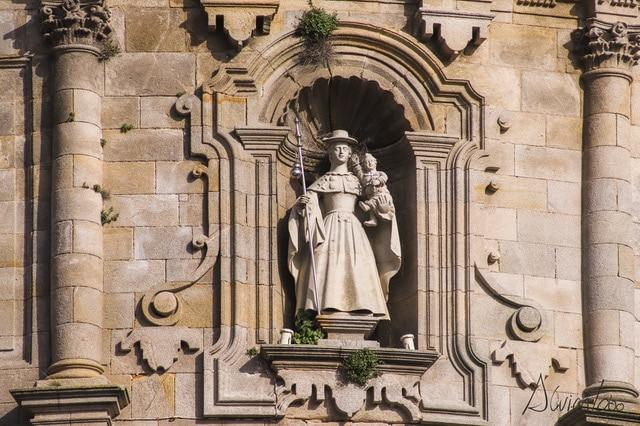 imagen de la Virgen Peregrina en Pontevedra