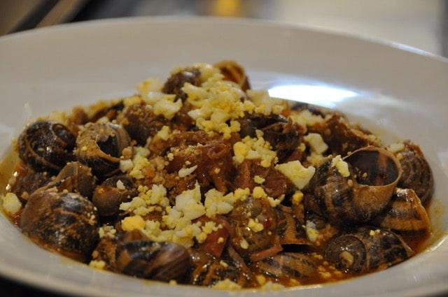 Comer caracoles en León