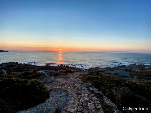 puesta de sol en Muxia