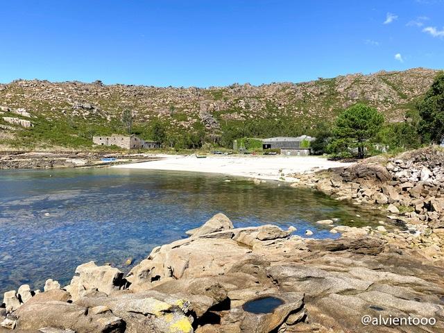 playa de caneliñas en Cee